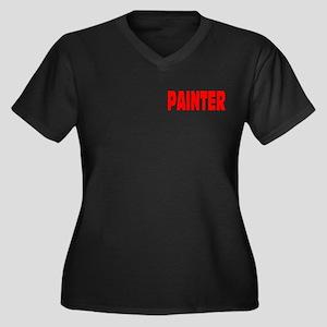 PAINTER Women's Plus Size V-Neck Dark T-Shirt