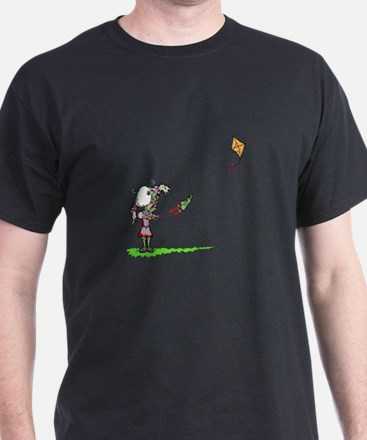 Zombie Girl with Kite T-Shirt