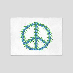 Peas Of Peace 5'x7'Area Rug