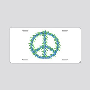 Peas Of Peace Aluminum License Plate
