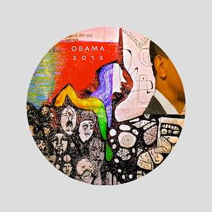 """Obama Pride 3.5"""" Button"""