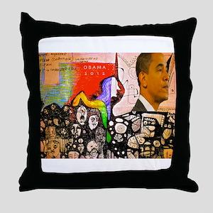 Obama Pride Throw Pillow