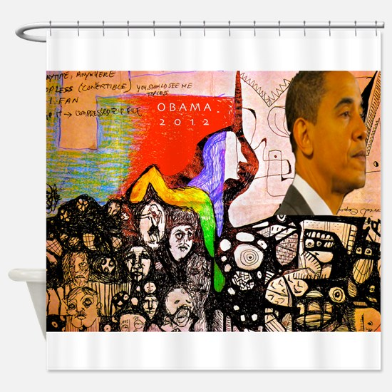 Obama Pride Shower Curtain