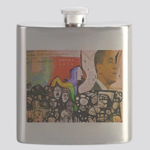 Obama Pride Flask