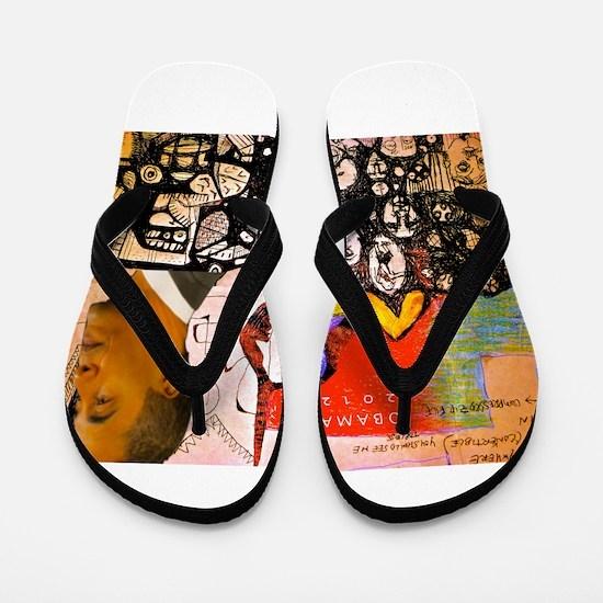 Obama Pride Flip Flops