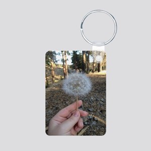 Dandelion Aluminum Photo Keychain