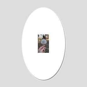 Dandelion 20x12 Oval Wall Decal