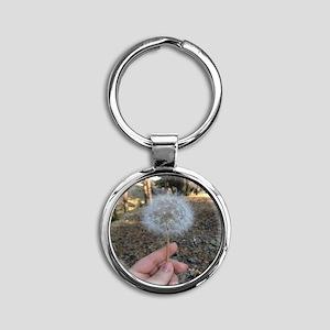 Dandelion Round Keychain