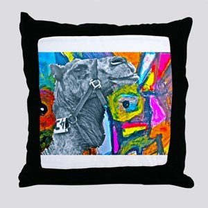 Colorful Camel Throw Pillow