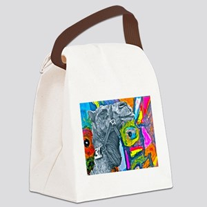 Colorful Camel Canvas Lunch Bag