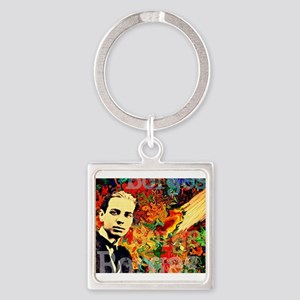 Borges Argentina Square Keychain