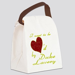 Loved By Duke Lavery Canvas Lunch Bag