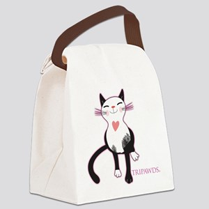 Tripawd Cat Love Canvas Lunch Bag