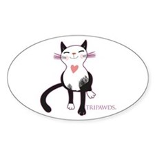 Tripawd Cat Love Sticker