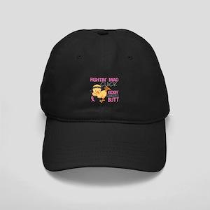 Fightin' Mad Chick Breast Cancer Black Cap