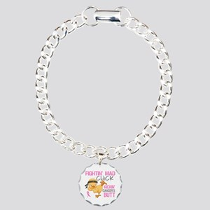 Fightin' Mad Chick Breast Cancer Charm Bracelet, O