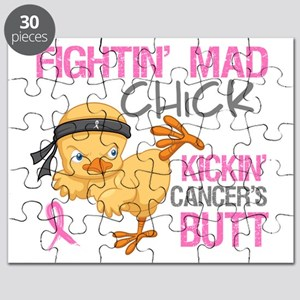 Fightin' Mad Chick Breast Cancer Puzzle