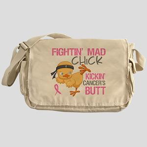 Fightin' Mad Chick Breast Cancer Messenger Bag