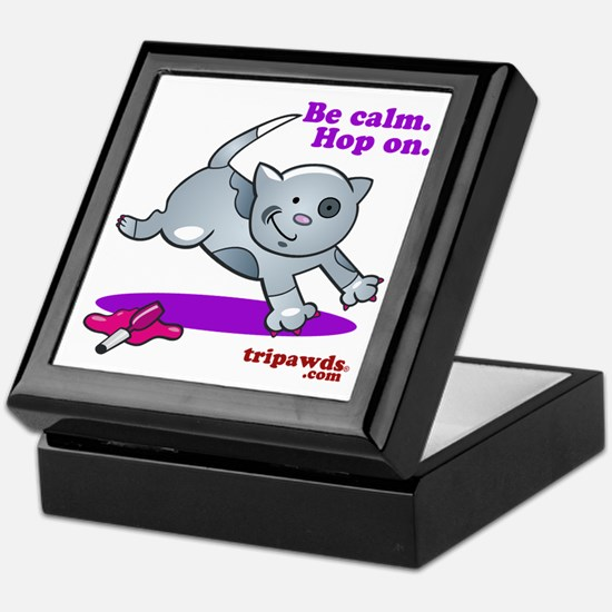 Be Calm Hop On Keepsake Box