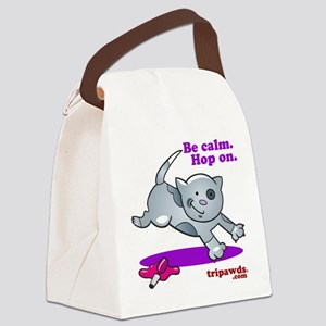 Be Calm Hop On Canvas Lunch Bag