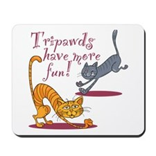 Tripawd Cats Have Fun Mousepad