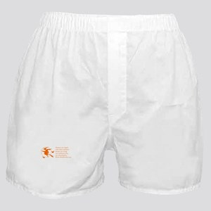 women-broomstick-orange Boxer Shorts