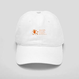 women-broomstick-orange Baseball Cap