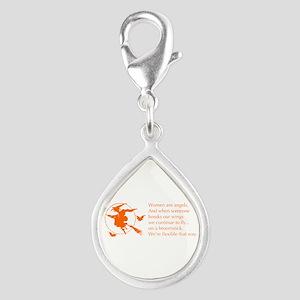 women-broomstick-orange Charms