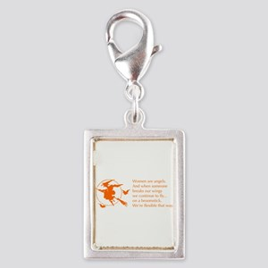 women-broomstick-orange Charms