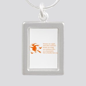 women-broomstick-orange Necklaces