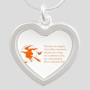 women-broomstick-orange Necklaces