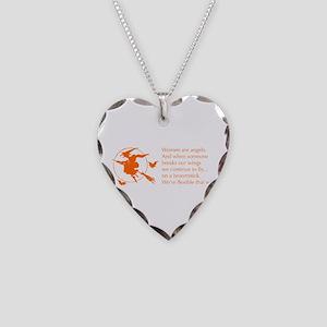 women-broomstick-orange Necklace