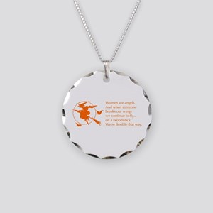 women-broomstick-orange Necklace