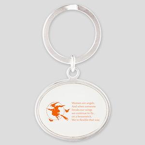 women-broomstick-orange Keychains
