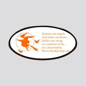 women-broomstick-orange Patches