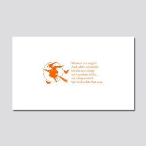 women-broomstick-orange Car Magnet 20 x 12