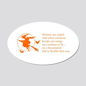 women-broomstick-orange Wall Decal