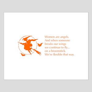 women-broomstick-orange Posters