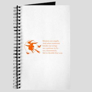 women-broomstick-orange Journal