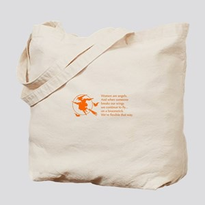women-broomstick-orange Tote Bag