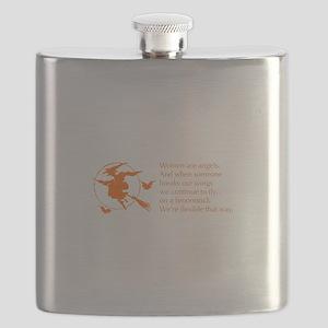 women-broomstick-orange Flask