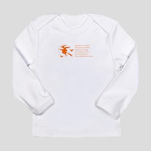 women-broomstick-orange Long Sleeve T-Shirt