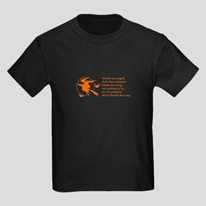 women-broomstick-orange T-Shirt