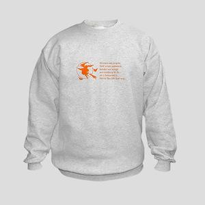 women-broomstick-orange Sweatshirt