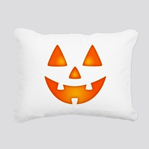 Happy Pumpkin Face Rectangular Canvas Pillow