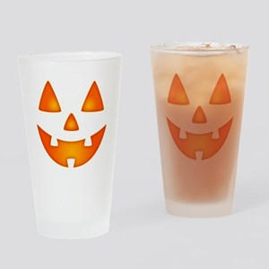 Happy Pumpkin Face Drinking Glass