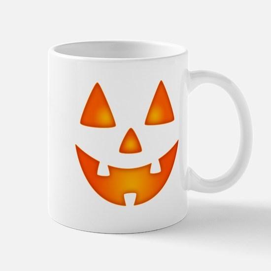 Happy Pumpkin Face Mugs