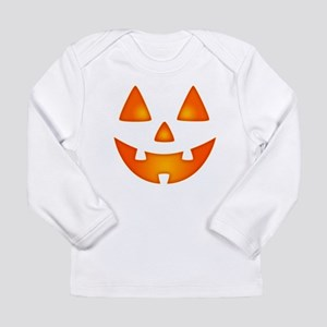 Happy Pumpkin Face Long Sleeve T-Shirt