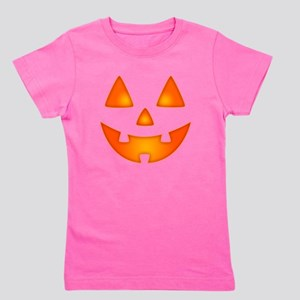 Happy Pumpkin Face Girl's Tee