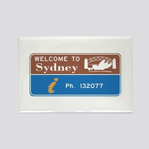 Welcome to Sydney, Australia Rectangle Magnet